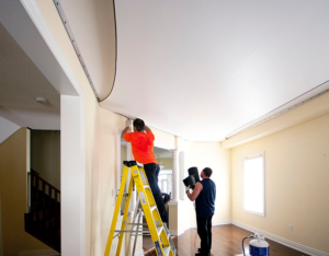 this image shows nyc popcorn ceiling removal stretch ceilings in new york city
